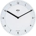 Horloge BNC006 de Braun en blanc sur noir